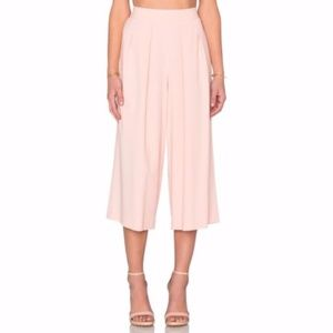 1. State Revolve Crepe Pink Wide Leg Culottes